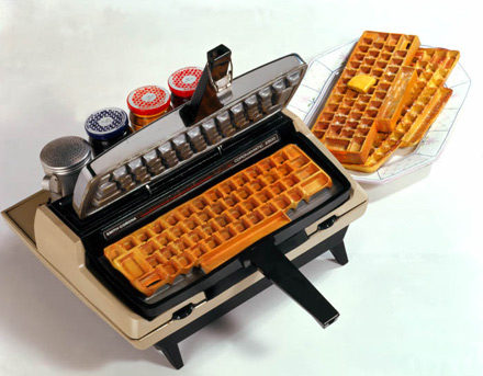 swissmiss: they keyboard waffle iron