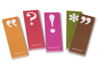 swissmiss: Punctuation Page Markers
