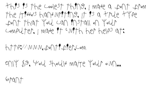 Little Kid Handwriting Font Zinaida fidelja's blog