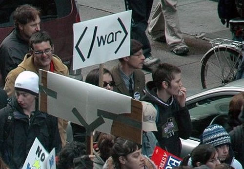 When geeks go to a war protest