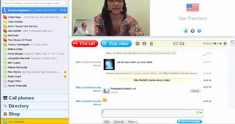 Skypevideochat